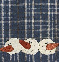 Would like to do this applique on a homespun table runner for winter.