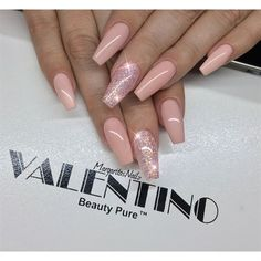 Nude Coffin Nails by MargaritasNailz