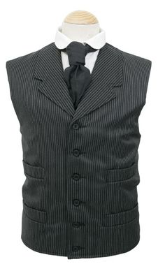 The Deadwood Vest - victorian inspired waist coat, wool and cotton fabrics, six pockets, single breasted, double lapel
