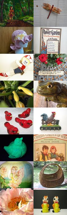 In My Garden at TeamVintageUSA! by Betty J. Powell on Etsy--Pinned with TreasuryPin.com