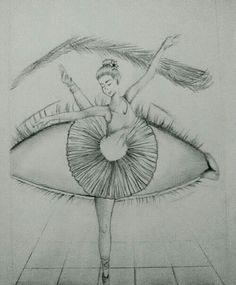 Ceva de genul art em 2019 art sketches, ballet drawings e da Cool Eye Drawings, Pencil Art Drawings, Beautiful Drawings, Art Drawings Sketches, Easy Drawings, Tumblr Drawings, Beautiful Pictures, Ballet Drawings, Dancing Drawings