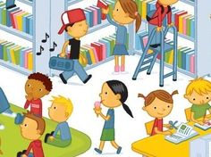 Bibliotheek - Praatplaat / Netwijs.nl - Maakt je wereldwijs Busy Board, Book Reader, Curriculum, Letters, School, Books, Projects, Fictional Characters, Art