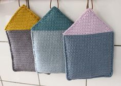 Crocheted House Potholder - Free Crochet Pattern and Tutorial by Tusindfryd