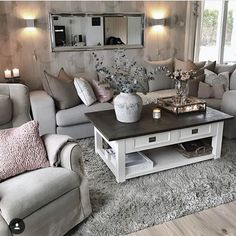 Cozy Living Room Ideas for Small Apartment. Cozy Living Room Ideas for Small Apartment. Home Living Room, Chic Living Room, Apartment Living Room, New Living Room, Apartment Decor, Living Room Grey, Living Decor, Home And Living, Living Room Designs