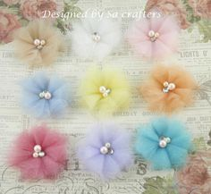 Fabric tulle flower tutorial