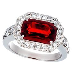 Details about  /Vintage Ruby Gemstone Handmade 925 Sterling Silver Pave Diamond Stackable Rings