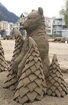 Arte da areia.  por Eva