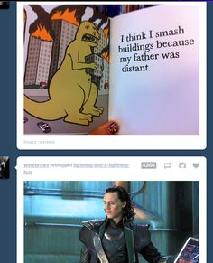 LOL Loki and the dinosaur
