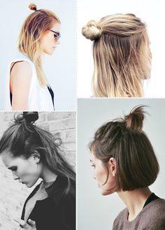 Hairstyles men messy half bun 32 Ideas for 2019 Short Hair Bun, Short Hair Styles, Trendy Hairstyles, Braided Hairstyles, Androgynous Haircut, Hair Day, Hair Designs, Hair Hacks, Hair Inspiration