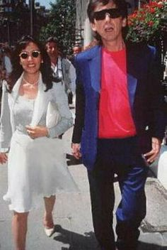 George & Olivia ca,1990 source: Beatle Wives & Girls Page on Facebook
