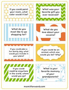 Family Dinner Discussion Starters Are you struggling to connect with family at the dinner table? Our family dinner discussion starters can help. These fun cards will increase conversation. Conversation Starters With Girls, Conversation Cards, Conversation Questions, Family Fun Night, Family Guy, Family Meeting, Family Games, Family Activities, Getting To Know You