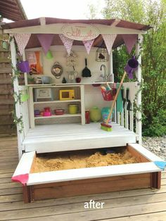outdoor play area for kids – Kids' Playground . Kids Outdoor Play, Outdoor Play Areas, Kids Play Area, Backyard For Kids, Diy For Kids, Kids Room, Garden Kids, Children Play, Cubby Houses