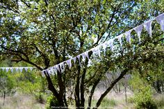 Rustic Wedding in a [real] field in Provence - SouthernFrance - Lace garland between trees... Details are magic...  #realwedding #field #rusticwedding #weddingplanner #lesriresdejulie #murielsaldalamacchia  photo: me, myself and I ;)