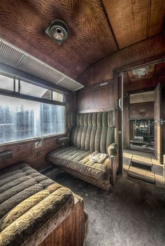 Dutch photographer Brian Romeijn takes haunting shots of abandoned buildings, but his striking shots of the famed Orient Express train capture the sense of a lost era. Abandoned Buildings, Abandoned Property, Abandoned Train, Abandoned Mansions, Old Buildings, Abandoned Places, Derelict Places, Abandoned Ships, Abandoned Castles