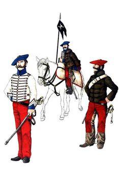 Carlists; Husares de Ontoria Army History, Historical Art, Napoleonic Wars, Victorian Era, Warfare, 19th Century, Spanish, Empire, Costumes