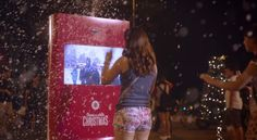 Coca-Cola Machine Connects Countries & Shares A White Christmas - http://www.creativeguerrillamarketing.com/guerrilla-marketing/coca-cola-machine-connects-countries-shares-white-christmas/