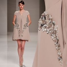 Pocketed perfection- #GEORGESHOBEIKA SS15 Couture