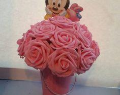 Bebé Minnie Mouse invitaciones  tarjetas de por dpdesigns2012