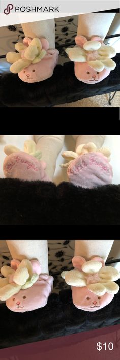 Bunny slippers Super cute lil bunny with flower slippers!! Accessories Socks & Tights