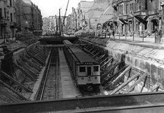 1946:U-Bahn kurz hinter dem U-Bahnhof Nuernberger Platz
