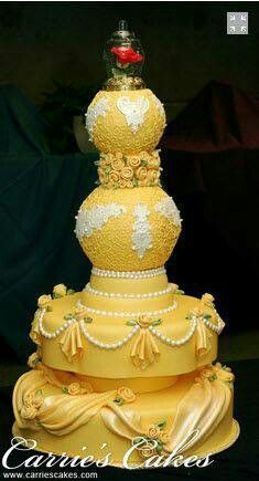 A Beautiful cake for a Beauty & the Beast Bday....Love it!