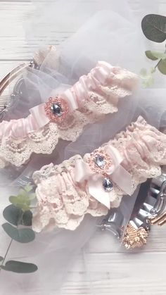 Customize Your Colors and Gold Personalized Wedding Garters Bridal and Toss Garter Grey Ivory Initial Canvas Wedding Garters
