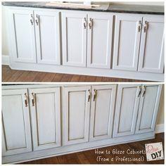 I show you how to glaze cabinets -->