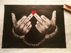 Its a thin line between hate & love #drawing