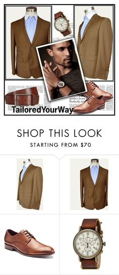 """""""TailoredYourWay  5"""" by nedim-848 ❤ liked on Polyvore featuring Apt. 9, Timex and BOSS Hugo Boss"""