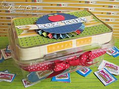 Recycled container for Box Tops for Education. Love it!!
