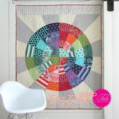 Free quilt pattern from tula pink ... looks pretty doable despite the curves