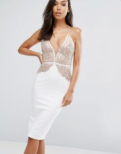 323462d1dc2 Rare London Pencil Dress With Scallop Lace Sequin Bodice. Cream Cocktail  DressesSequin Cocktail DressSequin DressGown SkirtTube ...