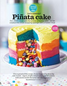 Pinata Cake. Make for next years Cinco de Mayo.