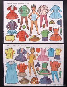 Coleccionismo Recortables: LOTE 10 LAMINAS RECORTABLES MUÑECAS EVA 2ª SERIE COMPLETA Nº 891 - 900 .1964 (TAMAÑO MEDIO - GRANDE) - Foto 4 - 56087164