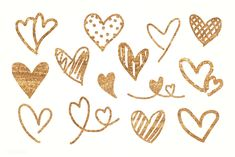 Golden hearts pattern wallpaper vector collection | premium image by rawpixel.com / Adj Cute Wallpapers, Wallpaper Backgrounds, Red Heart Patterns, Valentines Day Background, Doodle Lettering, Golden Heart, Cute Wallpaper For Phone, Photo Heart, Love Spells