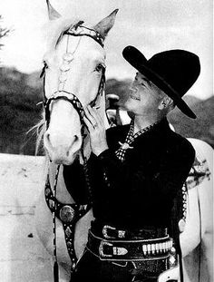 "William Boyd as ""Hopalong Cassidy"" with his horse Topper"