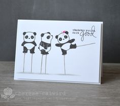 ME Pandamonium on stilts :) from Lostinpaper Therese  Too clever.