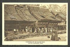 Nias Native Kampong People KPM Indonesia 20s   eBay Dutch East Indies, Environment Design, Archipelago, Nativity, Louvre, Culture, Island, History, Architecture