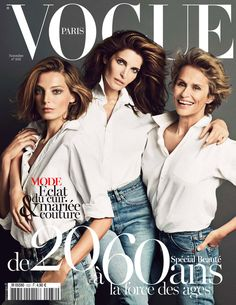 Vogue Paris November 2012: Daria Werbowy, Stephanie Seymour & Lauren Hutton. Shot by Inez & Vinoodh.