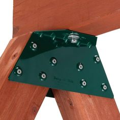 This bracket makes building a swing set for your child so much easier. No need for mitre cuts!