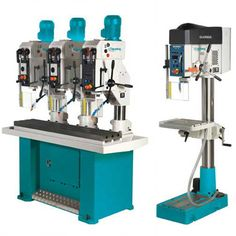 Clausing's line of precision, high-performance drills include radial drills, drill presses, geared-drive, prismatic and round column models. Gear Drive, Drill Press, Drills, Gears, Drill, Gear Train, Drill Press Table
