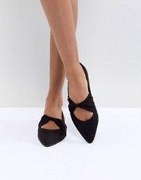 Zapatos planos en punta rojos Allie de Faith hUdh7