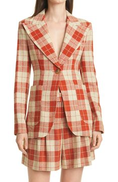 Plaid Blazer, Casual Jeans, Birkin, Clothing Items, Tweed, Patches, Nordstrom, Lapels, Clothes For Women