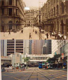 Central @ Hong Kong - Then & Now #history #blackandwhite #centralhongkong
