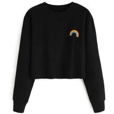 HOODIES SWEATSHIRTS (85 BRL) ❤ liked on Polyvore featuring tops, hoodies, sweatshirts, shirts, jumpers, sweaters, shirt hoodie, hooded sweatshirt, hoodie top and hooded pullover