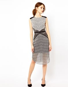 black and white print dress $105.54