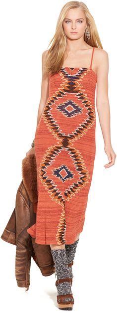フェスで注目されそう。マキシドレス  / Polo Ralph Lauren hand knit dress on ShopStyle