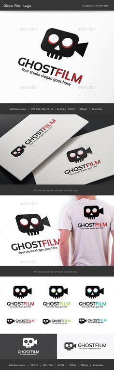 Ghost Film Logo — Vector EPS #ghost #young • Available here → https://graphicriver.net/item/ghost-film-logo/9591603?ref=pxcr