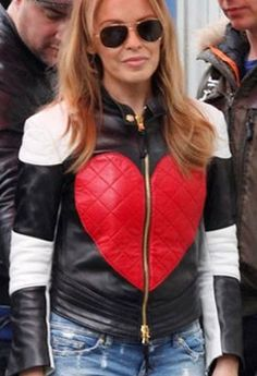 Singer Kylie Minogue Red Heart #Jacket now Valentine's Day Sale special sale...
