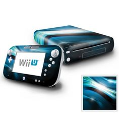 Nintendo Wii U Console and GamePad Decal Skin - Abstract Blue Spectrum